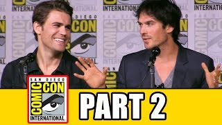 THE VAMPIRE DIARIES Season 8 Comic Con Panel (Part 2) - Ian Somerhalder, Kat Graham, Paul Wesley