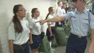 New recruits at Coast Guard Academy