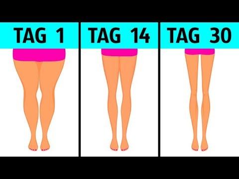 Übung, um die Waden der Beine zu schlank zu machen