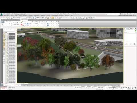 Using 3ds Max Design With Civil 3D - Part 23 - Scattering Trees
