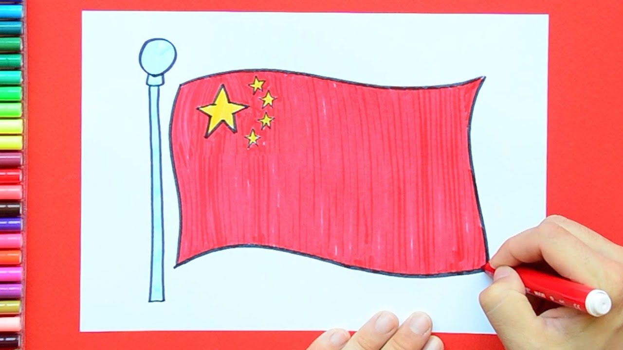 how to draw and color the national flag of china youtube
