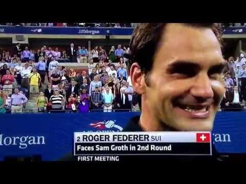 Roger Federer Air Jordan at US Open