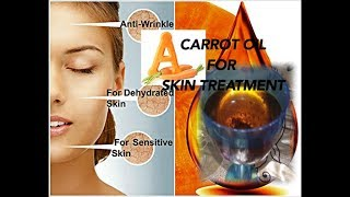 Carrot oil for skin face, hand and foot in Urdu and Hindi by hbfc