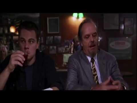 The Departed (2006) - Jack Nicholson - LeonardoDiCaprio - Bar Scene