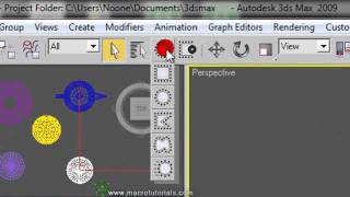 3D Studio Max - Tutorial -  Como seleccionar y deseleccionar uno o mas objetos