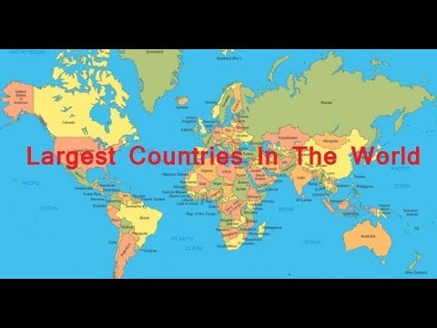 Top 10 Largest countries in the world according to Area  |2017 |