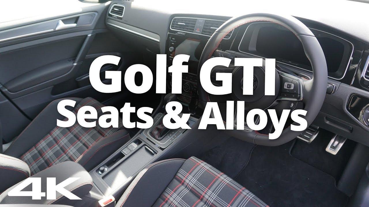 2018 vw golf gti seats alloys do you like them youtube. Black Bedroom Furniture Sets. Home Design Ideas