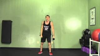 Dumbbell Clean + Press - HASfit Compound Exercises - Total Body Exercise