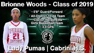 Brionne Woods Highlights (Basketball on the Bayou/Super 60) - Cabrini/Lady Pumas 2019 G/F