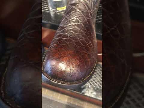 Mr. Willie in Savannah Shoes Shine Alligator Boots