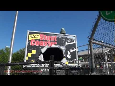 Backlot Stunt Coaster On-ride Front Seat (HD POV) Kings Island
