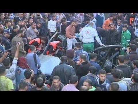 Israeli Airstrike Kills Hamas Military Commander (raw Footage Of Aftermath)
