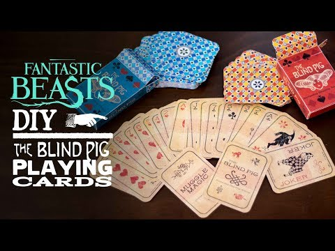The Blind Pig Playing Cards - Fantastic Beasts DIY
