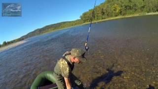 Рыбалка на тирольку по Хариусу река Томь .
