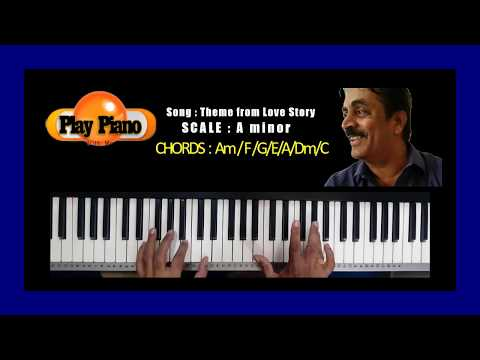 LOVE STORY THEME (OLD) PIANO COVER By S RAJ BALAN