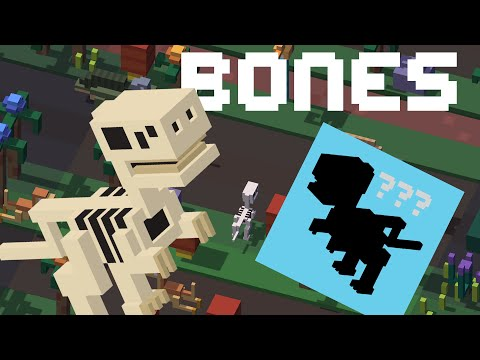 CROSSY ROAD Bones Unlock | New Secret Characters | Dinosaur Update - September 2016