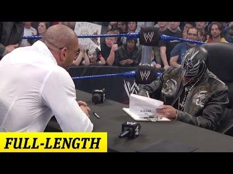 Rey Mysterio and Batista's Survivor Series 2009 Contract Signing