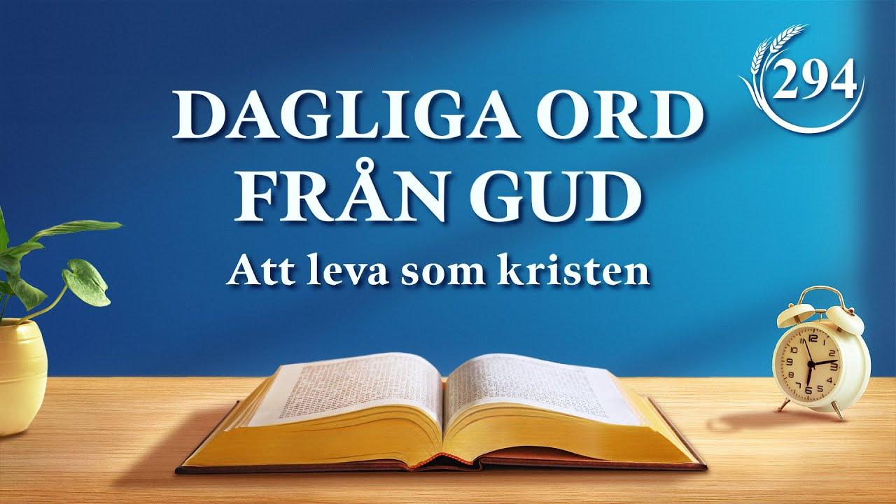 """Dagliga ord från Gud   """"Alla som inte känner Gud är Guds motståndare""""   Utdrag 294"""