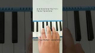 Here's Your Perfect - Jamie Miller Cover Pianika + Not #heresyourperfect