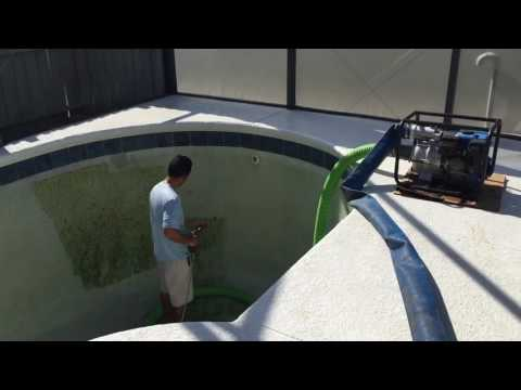 Swimming Pool Draining & Cleaning