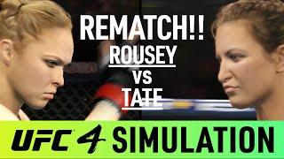 Ronda Rousey Vs Miesha Tate - EA Sports UFC 4 Simulation - (CPU Vs CPU)