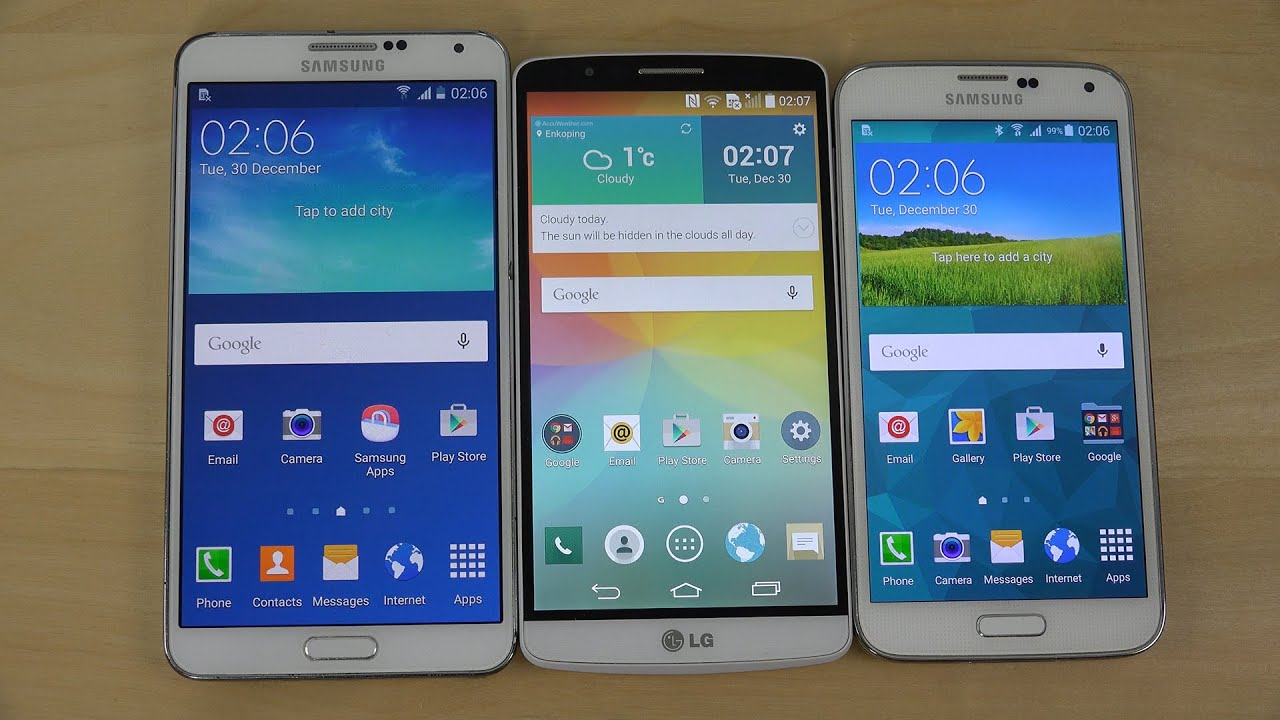 Android 5.0 Lollipop: Samsung Galaxy Note 3 vs. Samsung Galaxy S5 ...