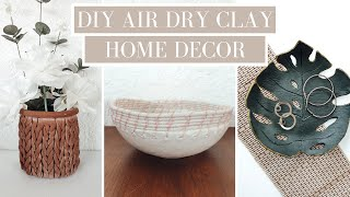 DIY Home Decor Air Dry Clay Projects | Easy To Make And Budget Friendly | Monstera Dish, Chunky Knit
