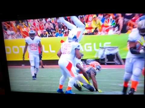 TJ Ward flips Josh Gordon - 2014 Pro Bowl