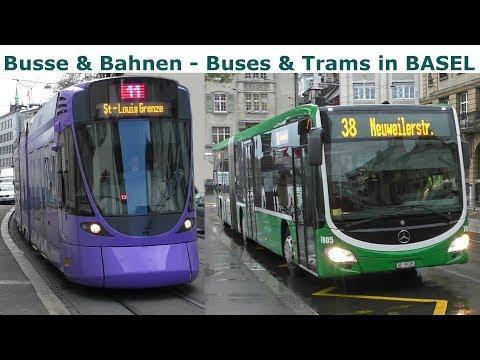 Busse & Bahnen in Basel - Buses & Trams in Basel - BLT & BVB alle Straßenbahn Baureihen