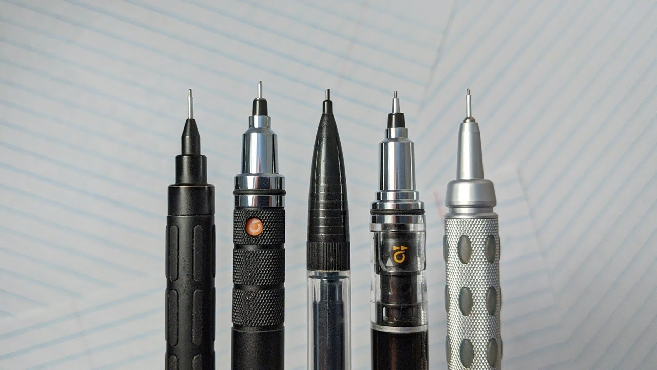 My Top 5 Mechanical Pencils - DOPE or NOPE