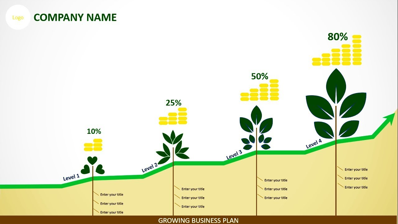 Business Growth Slide for PowerPoint | Growth Concept PowerPoint Template