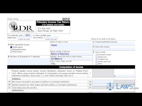 Form IT 541 Fiduciary Income Tax Return