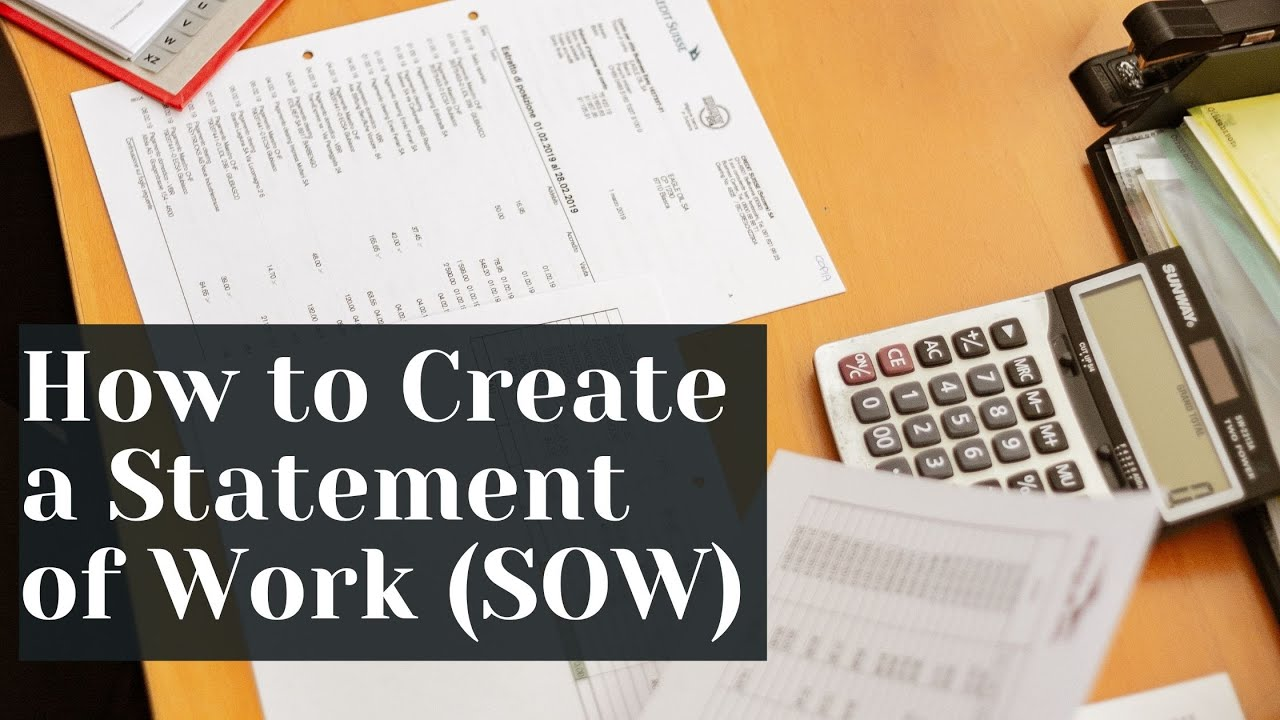 How to Create a Statement of Work (SOW) for IT Projects