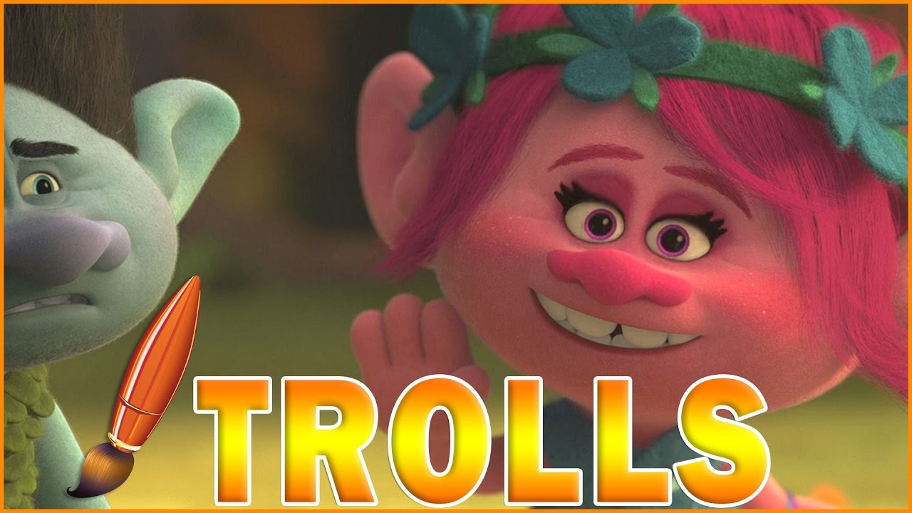 Coloring Trolls Poppy is Happy - Kids Coloring Book ...