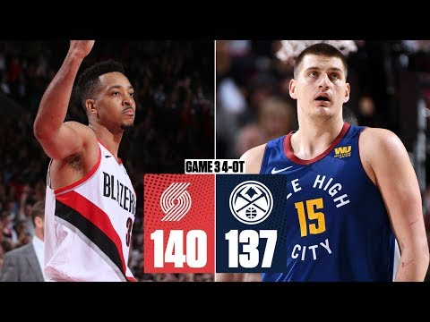 Trail Blazers win 4OT thriller vs. Nuggets to take 2-1 series lead | 2019 NBA Playoff Highlights