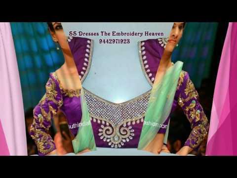 Glamorous Purple Blouse Designs 2016