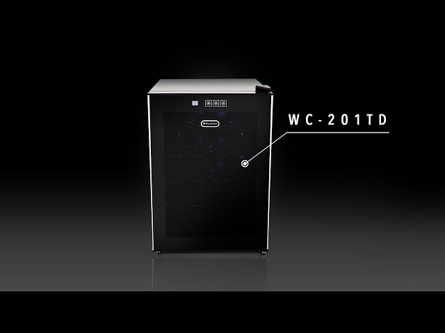 WC-201TD Whynter 20 Bottle Freestanding Thermoelectric Wine Cooler with Mirror Glass Door