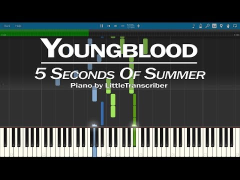 5 Seconds Of Summer - Youngblood (Piano Cover) Synthesia Tutorial By LittleTranscriber