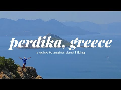 Perdika, Aegina Island, Greece (Hikes to Oros and Moni Island)