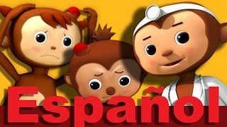 Cinco monitos  | LittleBabyBum canciones infantiles HD 3D