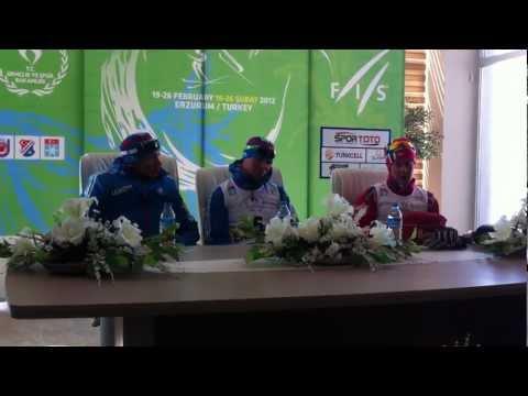 Erzurum 2012 - Junior Mens Skiathlon 20 KM Press Conference