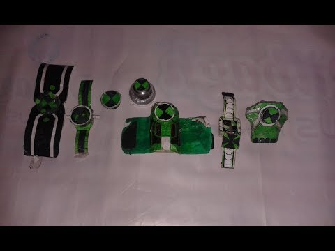 (all Ben 10 paper watches that i made)(big fan of Ben 10)