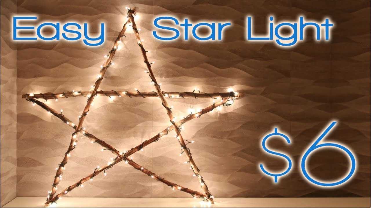 Christmas Star Light - 2nd DIY of Christmas! - YouTube