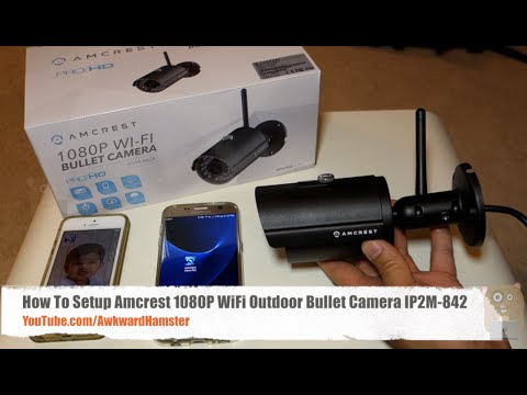 How To Setup Amcrest 1080P WiFi Outdoor Bullet Camera IP2M-842