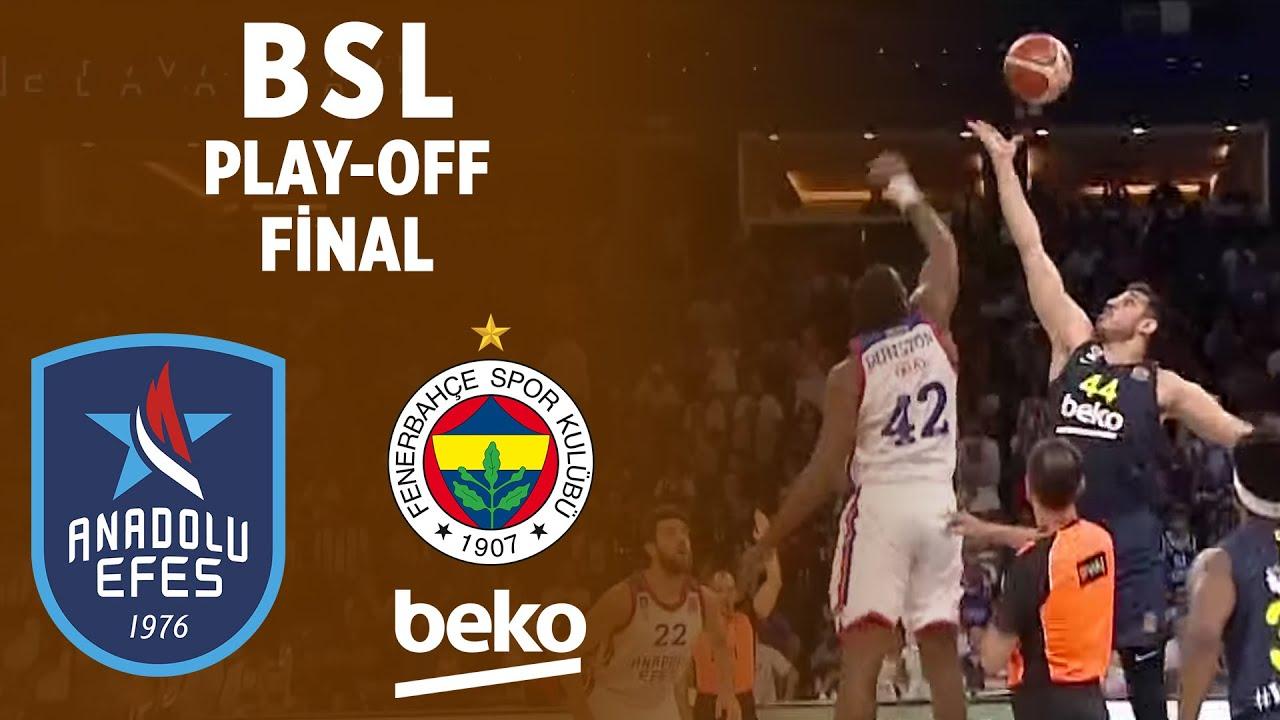 BSL Play-Off Final 5. Maç Özeti | Anadolu Efes 86-76 Fenerbahçe Beko