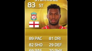 fifa 15 sturridge 83 player review in game stats ultimate team