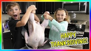 DON'T PLAY WITH YOUR FOOD! | HAPPY THANKSGIVING! | We Are The Davises