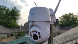 Видеонаблюдение 360° без проводного интернета через  телефон за техникой, складом, гаражом, дачей