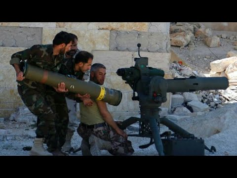 Syria War 2017 - Russian tanks launch fierce barrage against ISIS fighters Aleppo[Real Clashes]