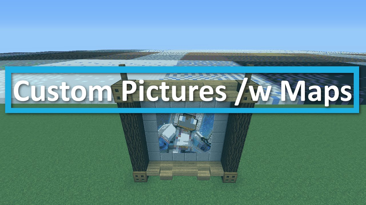 Minecraft Custom Pictures /w Maps & Easy Pixel Art Tutorial